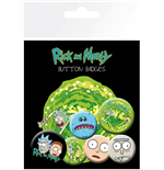 Broschen Set Rick and Morty - Characters
