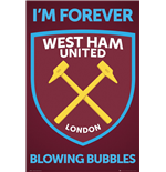 Poster West Ham United - Crest - 61 x 91,5 cm.