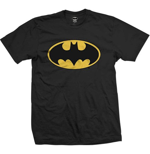 kaufe t shirt superhelden dc comics batman logo. Black Bedroom Furniture Sets. Home Design Ideas