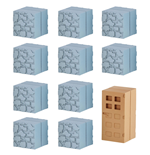 Minecraft Mine-Keshi Minifiguren 2 - 4 cm Block Set Cobblestone & Wooden Door