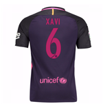Trikot Barcelona Home 2016/17 - Kinder mit Sponsoren (Xavi 6)