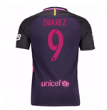 Trikot Barcelona Home 2016/17 - Kinder mit Sponsoren (Suarez 9)