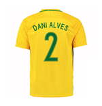 Trikot Brasilien Fussball 2016-2017 Home (Dani Alves 2) - Kinder