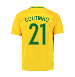Trikot Brasilien Fussball 2016-2017 Home (Coultinho 21) - Kinder