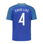 Trikot Brasilien Fussball 2016-2017 Away (David Luiz 4)