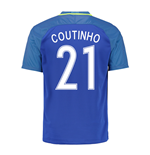Trikot Brasilien Fussball 2016-2017 Away (Coultinho 21)