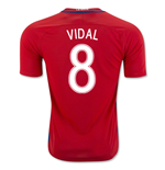 Trikot Chile Fussball 2016-2017 Home (Vidal 8) Kinder