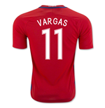 Trikot Chile Fussball 2016-2017 Home (Vargas 11) Kinder