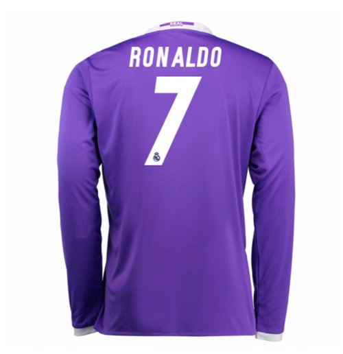 Trikot Real Madrid mit langen Armel Away 2016/17 (Ronaldo 7) - Kinder