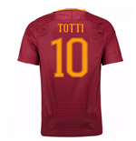 Trikot AS Rom 2016-2017 Home 2016/17 (Totti 10) - Kinder