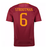 Trikot AS Rom 2016-2017 Home 2016/17 (Strootman 6) - Kinder