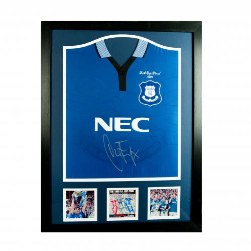 memorabilia everton trikot mir rahmen und autogramm. Black Bedroom Furniture Sets. Home Design Ideas