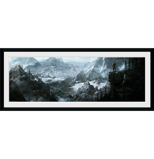 kunstdruck mit rahmen skyrim vista 75 x 30 cm f r nur. Black Bedroom Furniture Sets. Home Design Ideas