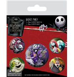 Nightmare Before Christmas Ansteck-Buttons 5er-Pack Characters