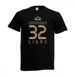 T-Shirt Real Madrid (Schwarz)