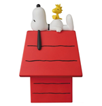 Peanuts VCD Vinyl Figur Snoopy, Woodstock & Dog House 15 cm