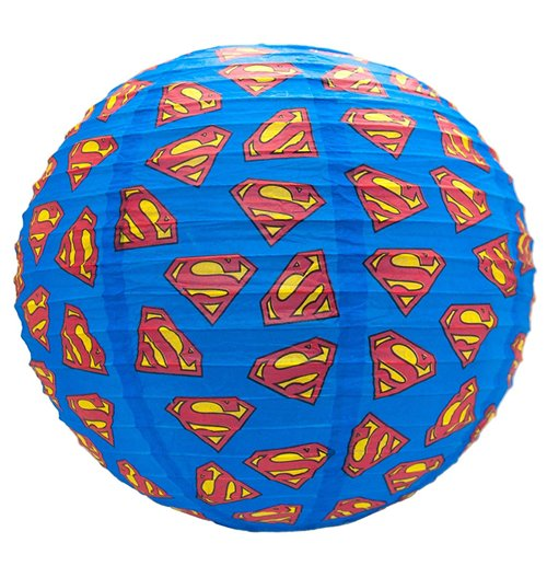 kaufe dc comics lampenschirm aus papier superman logos 30 cm. Black Bedroom Furniture Sets. Home Design Ideas