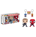 Captain America Civil War POP! Marvel Vinyl Figuren & Schlüsselanhänger 4er-Pack 9 cm