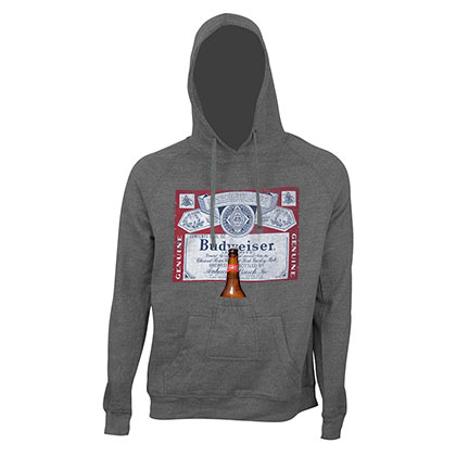 Sweatshirt Budweiser Bottle Label