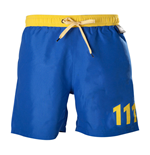 Badehose Fallout Vault 111 Swimming Shorts, Medium, Blue/Yellow für Männer