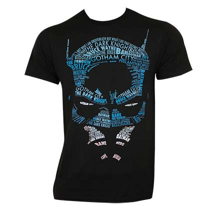 T-Shirt Batman Caligram
