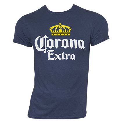 T-Shirt Coronita Classic Label in blau