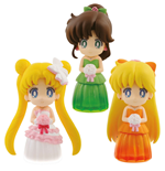 Sailor Moon Minifiguren 6 cm Sortiment Clear Colored Sparkle Dress Collection Vol. 2 (25)