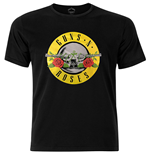 T-Shirt Guns N' Roses Circle Logo with Flied Application