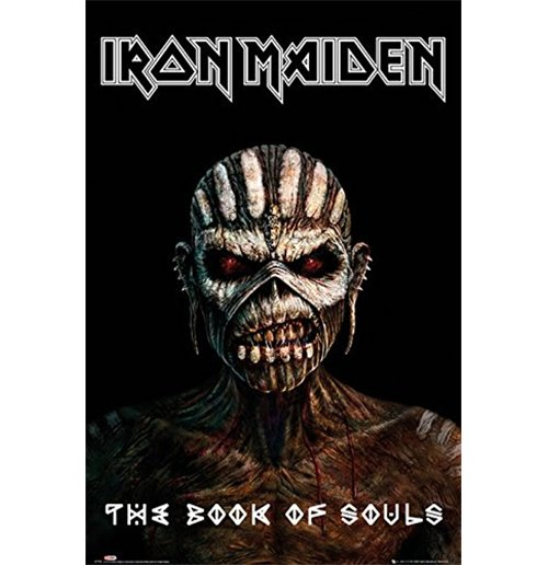 kaufe poster iron maiden the book of souls grosse 61 x 91 5 cm. Black Bedroom Furniture Sets. Home Design Ideas