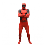 Kostüm MARVEL COMICS Deadpool Basi Adult Cosplay Costume Morphuit, Extra Extra Large, bunt.