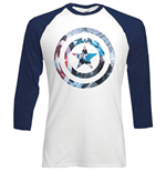 Marvel Superheroes T-Shirt für Männer - Design: Captain America Shield Block