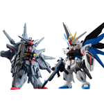 Mobile Suit Gundam SEED Fusion Worms Converge SP07 Actionfiguren 2-er Pack Freedom & Providence 6 cm