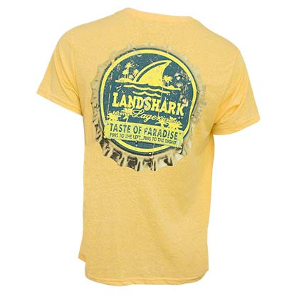 T-Shirt LandShark Lager Beer Bottle Cap