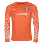 Longsleeve Trikot Chelsea 2017-2018 Home (Orange)
