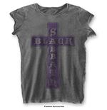 T-Shirt Black Sabbath Vintage Cross with Burn Out Finishing