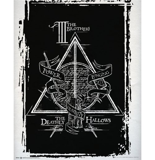 poster harry potter deathly hallows graphic 40 x 50 cm f r nur 2 99 bei merchandisingplaza. Black Bedroom Furniture Sets. Home Design Ideas