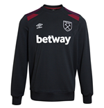 Sweatshirt West Ham United 2017-2018 (Schwarz)