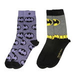 DC Comics Damen Socken Doppelpack Batman Purple