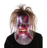 Slipknot Vinyl-Maske Clown with Hair