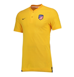 Polohemd Atletico Madrid 2017-2018 (Gold)