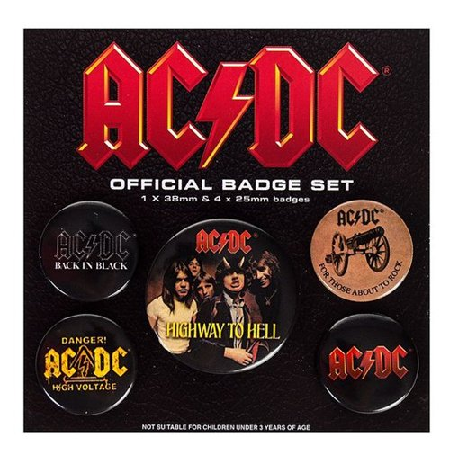 Brosche AC/DC - Logo Pin Badge Pack
