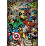 Poster Marvel Superheroes  -  Here Come The Heroes - 61X91,5 Cm