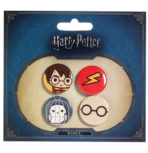 Harry Potter Cutie Ansteck-Buttons 4er-Pack Harry Potter & Hedwig