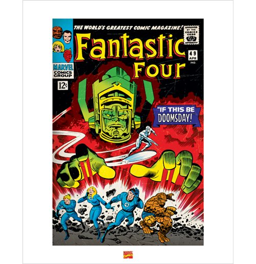 poster fantastic four 50 x 40 cm f r nur 13 99 bei merchandisingplaza. Black Bedroom Furniture Sets. Home Design Ideas