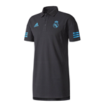 Polohemd Real Madrid 2017-2018 (Schwarz)