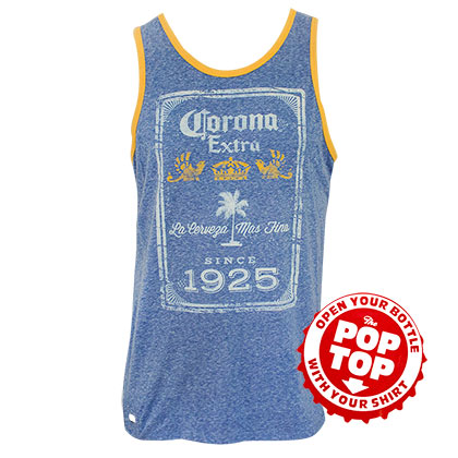 Top Corona für Männer in blau Since 1925 Top Bottle Opener Tank Top
