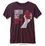 Green Day T-Shirt für Männer - Design: American Idiot Vintage  with Burn Out Finishing