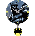 Batman 3D Mini Motion Wanduhr Swinging Logo