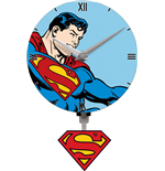 Superman 3D Mini Motion Wanduhr Swinging Logo