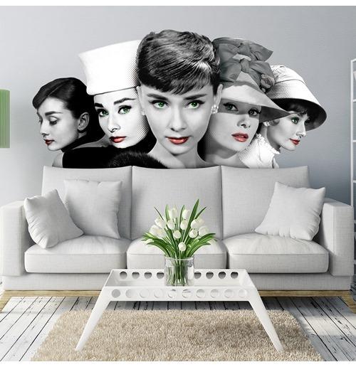 Wandtattoo Audrey Hepburn 274634